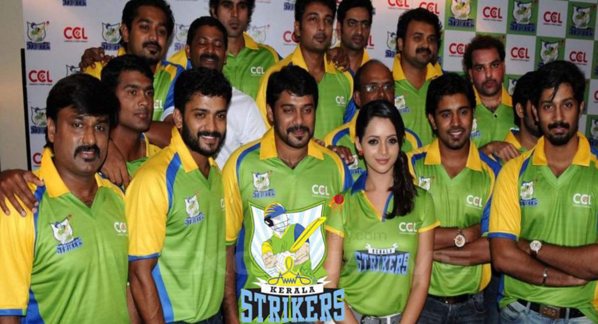 The whole Kerala Strikers team